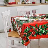 Клеёнка столовая на ткани Доляна 'Новогодняя', рулон 20 метров, ширина 137 см