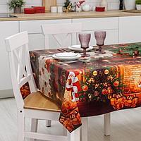 Клеёнка столовая на ткани Доляна 'Рождественская', рулон 20 метров, ширина 137 см