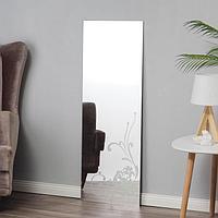 Зеркало, настенное, с пескоструйной графикой, 40x110 см
