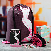 Набор Great сумка на лямках, набор значков, блокнот, эспандер для растяжки