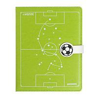 Дневник универсальный для 1-11 классов Football, твёрдая обложка, искусственная кожа с поролоном, шелкография,