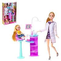 Кукла модель шарнирная 'Стоматолог Виктория' с малышом и аксессуарами МИКС