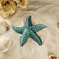 "Декорация для аквариума ""Морская звезда"", зелёная, 12х11х2.5 см, микс"