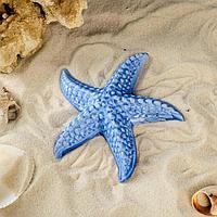 "Декорация для аквариума ""Морская звезда"", синяя, 12х11х2.5 см, микс"