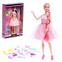 Кукла модель шарнирная ' Виктория' в пышном платье, с набором аксессуаров, МИКС