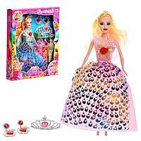 Кукла-модель 'Тоня' с набором платьев, с аксессуарами, МИКС