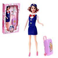 Кукла-модель шарнирная 'Стюардесса' с аксессуарами, МИКС