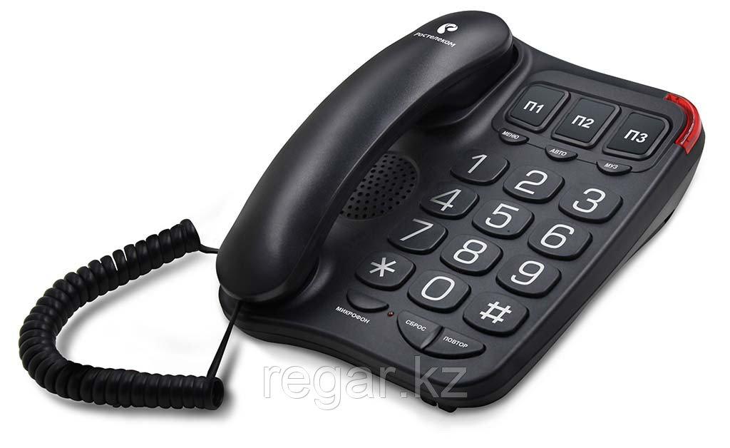 Телефон проводной Texet TX-214 черный
