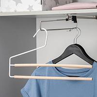 Вешалка для брюк и юбок SAVANNA Wood, 2 перекладины, 36x21,5x1,1 см, цвет белый