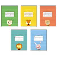 Тетрадь 24 листа в линейку 'Забавные зверушки', обложка мелованный картон, блок офсет (комплект из 10 шт.)