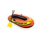 Лодка надувная Exlorer 200 set 185 х 94 см, INTEX, 58331NP, Винил, 6+, Двухкамерная
