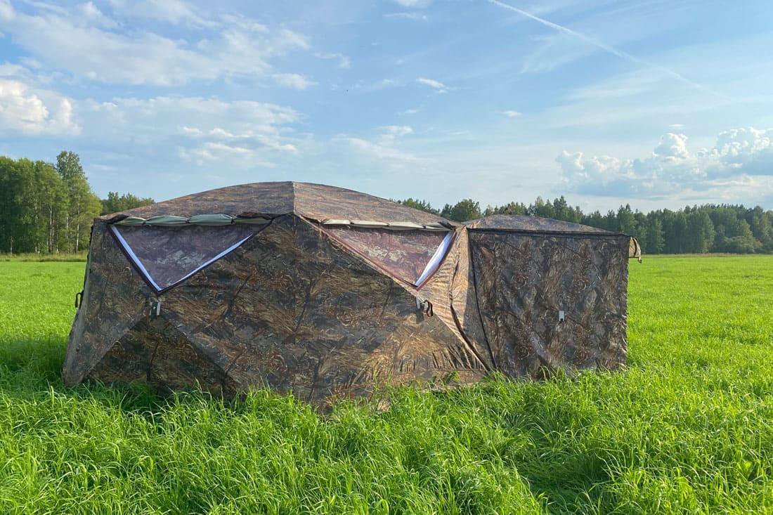 Палатка всесезонная Берег КУБ Гексагон двухслойная, высота 2.1 м., диаметр 4,65 м., площадь 12,57 м² - фото 4