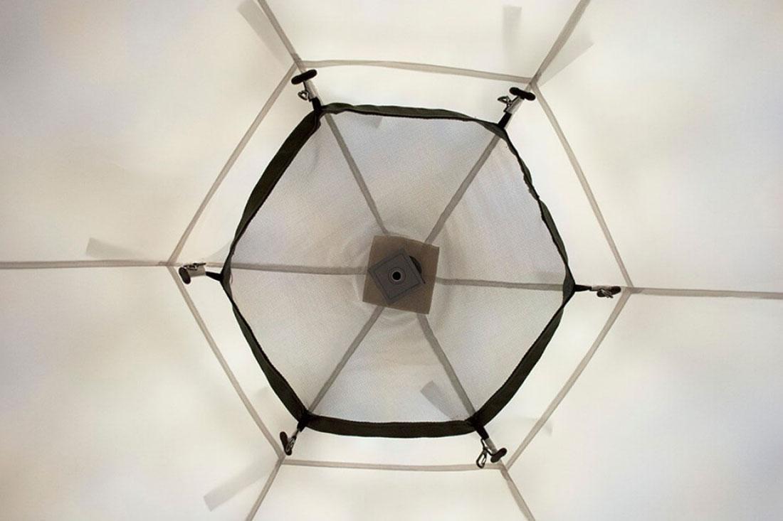 Палатка всесезонная Берег КУБ Гексагон двухслойная, высота 2.1 м., диаметр 4,65 м., площадь 12,57 м² - фото 8