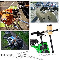 Крепление, держатель для кофе и бутылок на руль велосипеда, самоката, скутера. Рассрочка. Kaspi RED.