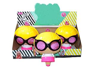PG8024  Сумочка-Кукла с очками (аксессуары, светится) 3шт в уп,цена за 1шт, 25*18см