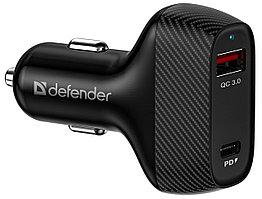 Зарядное устройство автомобильное Defender UCA-90 36W QC3.0 черный