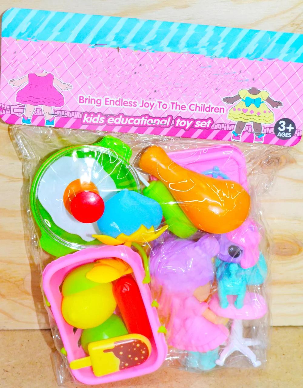 ZD893-197 Посуда Маленькая кукла, собачка в пакете разные виды 27*21см