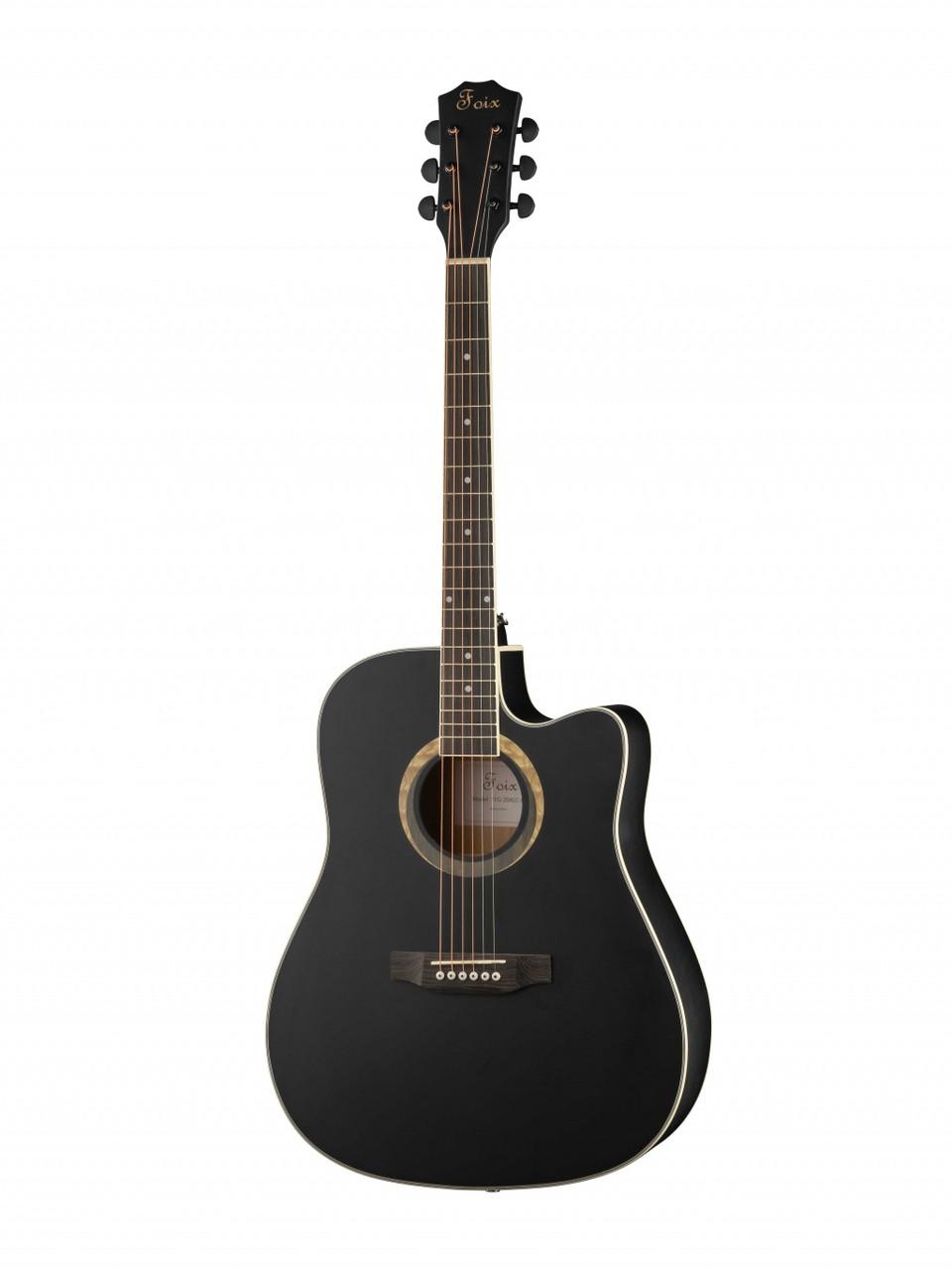 Акустическая гитара, черная, Foix FFG-2041C-BK