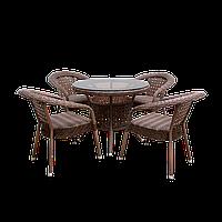 """Ротанговая мебель DEKO ORENA 4х1 """"Комплект обеденный стол + кресла""""."""