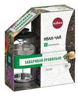 """Иван-чай """"Утренняя роса"""" с черным френч-прессом 100 г"""