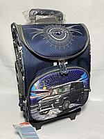 Школьный рюкзак на колесах для мальчика. Высота 47 см, ширина 31 см, глубина 22 см., фото 1