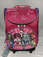 Школьный рюкзак для девочек на колесах. Высота 47 см, ширина 31 см, глубина 22 см., фото 1