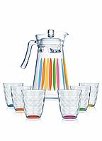 Графин со стаканами Neo Diamond Rainbow 7пр. (LUMINARC, Франция)
