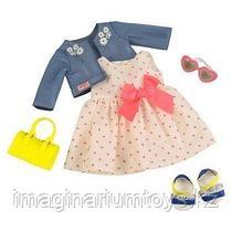 Deluxe Набор одежды для кукол Our Generation Платье с сердечками и жакетом