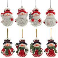 """Remeco: Новогоднее украшение """"Снеговик"""", L4,4 W3,8 H6,2см, 8 в."""