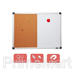 Доска комбо (магнитно-маркерная/пробковая) Comix BM4560V