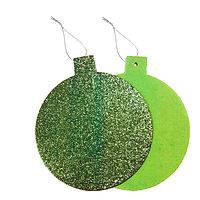 Основа для творчества - ёлочное украшение 'Шар' набор 6 шт, размер 1шт 15,5x14см, цвет зелёный