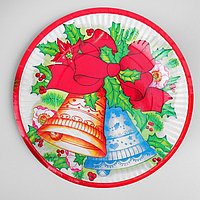 Тарелка бумажная 'Праздничные колокольчики', набор 6 шт.