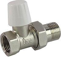 Клапан запорный Ogint д/рад Ду15 Ру10 ВР прямой штуцер с герметичной прокладкой