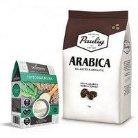 Кофе в зернах и нутовая мука