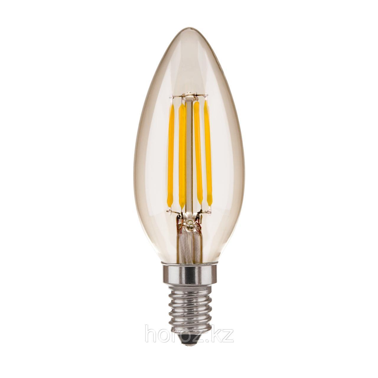 Филаментная лампа свеча 6 Ватт E14