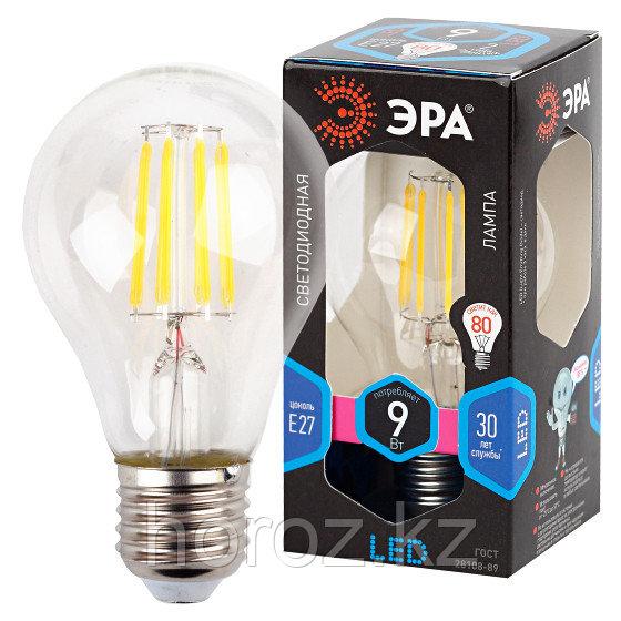 F-LED A60-9W-840-E27 ЭРА (филамент, груша, 9Вт, нейтр., Е27)