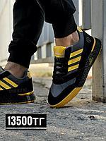 Кроссовки Adidas worldfamous чер желт 01-7, фото 1