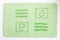 Коврик для ванной, зеленый/орнамент 40*60 (27) (Аквалиния, Россия)