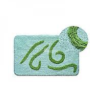 Коврик для ванной, зеленый/узоры 40*60 (125) (Аквалиния, Россия)