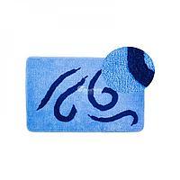 Коврик для ванной, синий/узоры 50*80 (412) (Аквалиния, Россия)