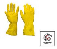 Перчатки хоз. с хлопковым напылением желтые