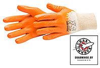 Перчатки хозяйственные с нитриловым покрыт L