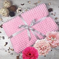 Плед бамбуковый кубики Велтсофт розовый 200×220 см