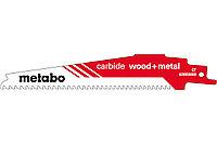 METABO Оснастка для сабельных пил Пилка для сабельных пил, «carbide wood + metal», 150 x 1,25 мм (626559000)