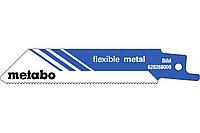 METABO Оснастка для сабельных пил 5 пилок для сабельных пил, «flexible metal», 100 x 0,9 мм (628268000)