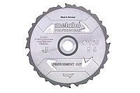 METABO Оснастка для дисковых пил Пильное полотно «fibercement cut professional», 160×20 Z4 DFZ 5°