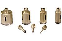 METABO Оснастка/Алмазные круги Набор алмазных сверлильных коронок для плитки «Dry», 7 предметов, M14