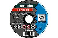 METABO Отрезные круги Novorapid 115 x 1,0 x 22,23 мм, сталь, TF 41 (616505000)