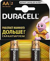 Батарейка Duracell AA lr6, комплект 2шт, в блистере, 1.5в
