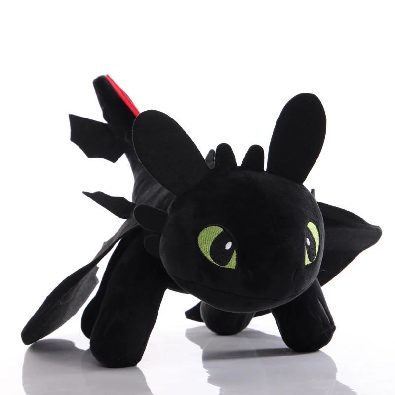 Мягкая игрушка чёрная фурия Беззубик 25см